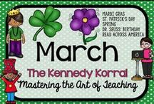 March Teaching Ideas / Fun spring themed activities for kids including St. Patrick's Day, Dr. Seuss, and Mardi Gras.  Find exciting science experiments and STEM ideas, too.