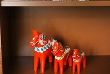 Only a Dala / Dala La La La! All manner of imagery inspired by Scandinavian wooden Dala horses.