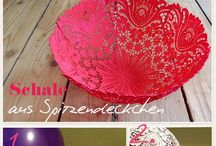 Hankie Pankie/Doily Dally / Craft projects and creative reuse of handkerchiefs, doilies, lace, and pot holders.