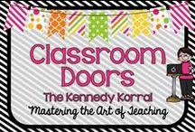 Classroom Door Ideas / Fun decorative door ideas for your classroom door.  Seasonal and academic themes included.