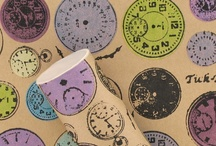 Stop Watching Collection / Our collection inspired by time pieces of  the past with a vintage feel including stationery and home accessories. Time flies.