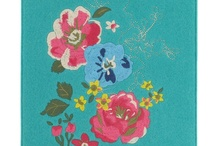Celeste floral range / A beautiful range with a floral design in teal and pink including stationery, home accessories and lovely felt phone and gadget covers.
