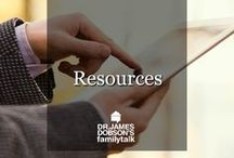 Resources / Do have questions? We might have the answers.  Download the FREE PDF's available on our website: http://www.drjamesdobson.org/Resources
