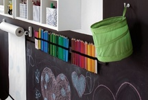 School Room / Ways to decorate and create a fun learning space for a homeschool or classroom.