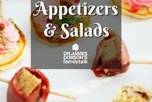 Appetizers and Salads / Yummy recipes and ideas to start of your dinner party or just to snack on!