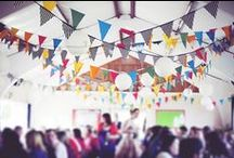 Wedding Bunting / Beautiful bunting, from DIY ideas to colourful garlands at weddings. / by Whimsical Wonderland Weddings