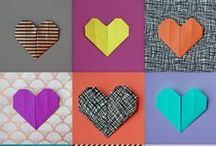 Origami Hearts / It's Valentine's Day tomorrow and we're in the mood for love... and a bit of craftiness! We've been making origami hearts for our friends & loved ones. What are you doing to make tomorrow special for someone in your life?