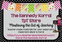 The Kennedy Korral TPT Store / Visit The Kennedy Korral TeachersPayTeachers Store at https://www.teacherspayteachers.com/Store/The-Kennedy-Korral for teacher-made materials, decor, and more!