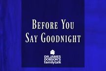 Before you say goodnight... / Questions for you and your spouse or for you and your kids to ask one another before you say goodnight!