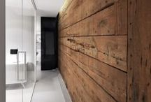 Interiors / material and color combinations, cool and clever layouts, inspiration