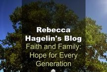 Faith And Family / Faith and Family Rebecca Hagelin's personal blog. She has championed faith and family values in Washington, DC for some 25 years. She speaks around the nation educating parents on how to combat the negative affects of the pop media culture on their children. Now joined by her daughter, Kristin Carey. (Found on drjamesdobson.org)