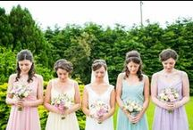 Mismatched Bridesmaids / Introducing WWW real bride Holly as my latest guest pinner. Sharing her favourite stylish mismatched bridesmaid looks.
