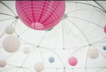 Wedding Lanterns / Pretty hanging lantern wedding inspiration.