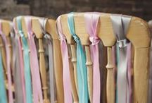 Pretty Wedding Chairs / Make your wedding chairs super stylish with these décor ideas.