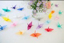 Origami Wedding Ideas / Pretty paper origami perfect for wedding decor & details.