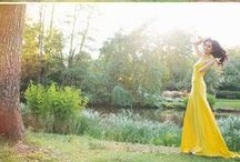 Coloured Wedding Dresses / Go bold in a colourful wedding dress with these ideas from stunning real brides.