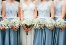 Blue Weddings / Blue wedding ideas and inspiration.