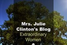 Julie Clinton's Blog / Extraordinary Women is Julie Clinton's (Dr. Tim Clinton's wife) personal blog where he writes about marriage issues, parenting issues and other spiritual issues with an emphasis for women. (Found on drjamesdobson.org)