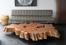 Table, console, chair