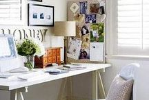 Office Organization and Decor / Ideas on organizing and decorating a functional home office space or studio