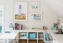 House-spiration: Crafty Office / Inspirwtioal ideas for a crafty office - quilting and scrapping and working