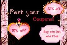 ETSY Coupons!! Ebay/Shops Coupons / Let us help your Business GROW http://www.fiverr.com/lildiva   ~~~~~~~~~~~~~~~~~~>This board is for any and all coupons that you come across!!! ONCE you have made a graphic for your coupon it is so much easier to promote your events and for others to share them as well !!!     Contact me to be added to this board  http://www.fiverr.com/lildiva   !!! Pin your deals as much as you would like! good luck to all !!