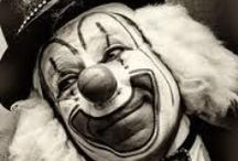 C L O W N S / I have never been afraid of clowns. I love them actually. It's always intrigued me to know there's a person, pretending to be a goofball to make others happy.