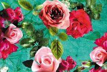 pattern: birds, butterflies, flowers, trees / by Nancy Broadbent
