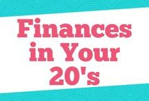 Finances in Your 20's / Great tips on saving money in your 20's, debt payoff in your 20's, budgeting in your 20's, finance tips in your 20's, frugal living, and how to be debt-free in your 20's.