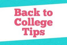 Back to College Tips / Fillled with everything college students should know about organization, career advice, and going back to college.