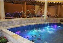 Water Features / Bradford's industry leading expertise in world-class aquatic design and fabrication gives us the ability to create custom water features that transform your space into something extraordinary with nature's most dynamic element. Browse through our waterfalls, water walls, reflecting pools, and other custom water features.