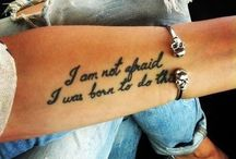 Tattoos  / by Amanda Silbersdorf