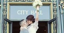 Elopements | Inspiration / Small wedding ideas for those who want to elope and have something intimate. City Hall wedding ceremony.