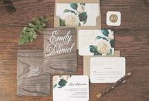 Wedding Stationery / Invitations and stationery inspiration and ideas for weddings. Programs, Menus, Cards, rsvp, name cards