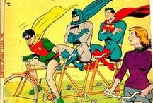 Superheroes & Bicycles / Golden Age comics that feature superheroes and bicycles.