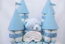 Cake Gift / Diaper Cakes, Utensil Cakes, Towel Cakes, Booze Cakes etc
