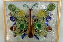Deana Vail, Recycled Glass Bottle Artist / Deana Vail creates wondrous works of art using glass from repurposed liquor and wine bottles provided by local pubs and restaurants.  With an eye for design and a natural gift for creative reuse, Deana gives every day glass bottles new purpose as treasures to be enjoyed for generations to come.