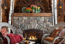 Montana  Style Refined Rustic / Shop www.indeedecor.com for unique, rustic; furniture, lighting and accessories to create a cozy cabin or luxurious mountain lodge feeling for your home!