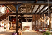 Urban Chic Industrial Style / Indeed Decor's Loft Industrial Decor Collection of furniture, accessories and lighting is the definition of urban chic. Hand chosen pieces constructed from materials like reclaimed wood and rusted iron bring character and simple style into any space or type of décor. Mix and match our vintage warehouse style furniture from Zuo Era, Arteriors, and Go Home to suit your own unique tastes. Illuminate open beams and well-worn brick with our factory-inspired lights.