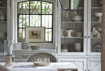 French Farmhouse Kitchen / Turn your kitchen into a French Country Farmhouse with rough reclaimed wood beams, gleaming copper pots & lush color straight out of Provencal landscape.Design ideas, recipes and French-inspired furniture, lighting and accessories from Indeed Decor. / by Indeed Decor