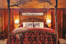 Bear Grass  Rustic Bedroom / Create a rustic retreat in your bedroom with inspiration, bedroom furniture, lodge lighting, tribal rugs, bedding, wall decor and cabin accessories at https://indeeddecor.com  Fill your bedroom with the latest in rustic style! / by Indeed Decor