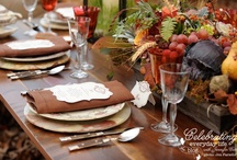 Rustic Thanksgiving / Whether you celebrate Thanksgiving indoors or out, you will find  rustic dinnerware, lighting, furniture and table accents in our curated collection of Thanksgiving Table Decor.