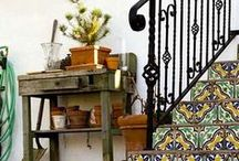 Decorating with Talavera Tiles / Mexican Talavera tile has been admired for years by many, for its folkloric aesthetics and rustic appearance. Add color and interest to everyday surroundings like kitchen backsplashes, bathroom sinks and showers, stair risers, fireplace and door surrounds. Each tile reveals a texture and a luminescence of color and tells a story of its own!