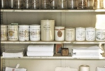 Pantry Panache / Our stylish pantry has a mix of textures; wicker, wire, ceramics, bits and pieces of France, Italy and Americana.  Organize with style at Indeed Decor!