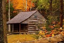 Cabin Fever / There are elements of intrinsic beauty in the simplification of a house built on the log cabin idea. Gustav Stickley Shop www.indeedecor.com for unique, rustic; furniture, lighting and accessories to create a cozy cabin feeling for your home!