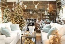 Cozy Cabin Holiday Gift Guide & Lodge Style Inspiration / Rustic reverie, fresh cut pine, crackling fire, rich textures and outdoor-inspired details define our Cabin Fever Christmas Collection of furniture, lighting, accessories and textiles. We also add Pinterest picks that inspire our rustic style.