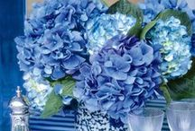 Blue & White Table Decor / Use this classic color combination to delight your dinner guests.