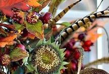 Fall Harvest Wedding / Fall Weddings at Diving Dog Vineyard. Get inspired for your fall wedding by perusing our autumn nature-inspired bridal bouquets, table decor, centerpieces, and harvest buffets.