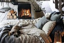 Create A Cozy Nest / There is nothing more welcoming for family and friends in your home than warm and comfort. Layers of soft, sumptuous throw blankets, an eclectic mix of plush pillows, intimate furniture groupings rounded by warm area rugs. soft lighting and warm focal point (mantel or fireplace) are some of the ways to create a warm and cozy home.