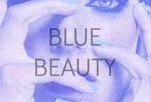 Blue Beauty / Blue eyes, nails and even lips that will inspire.
